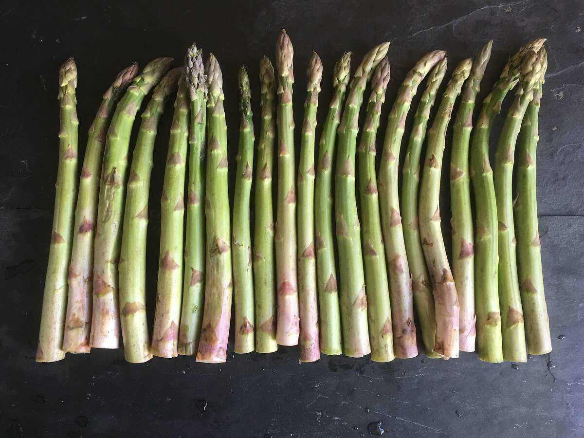 The first asparagus of the season made an early appearance at farmers' markets this year.