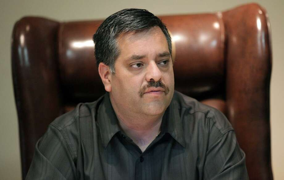 Maverick County Judge David R. Saucedo at a meeting at the County Courthouse in Eagle Pass in 2012. Photo: Bob Owen /San Antonio Express-News / © 2012 San Antonio Express-News
