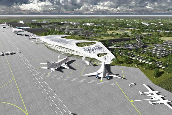 Rendering of the Houston Spaceport at Ellington Airport.