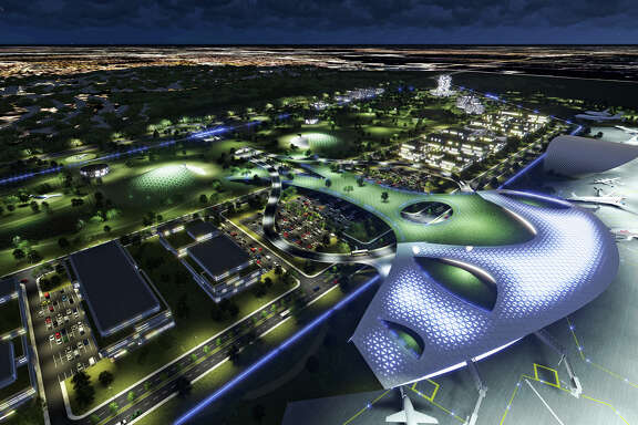 Rendering of the Houston Spaceport at Ellington Airport.