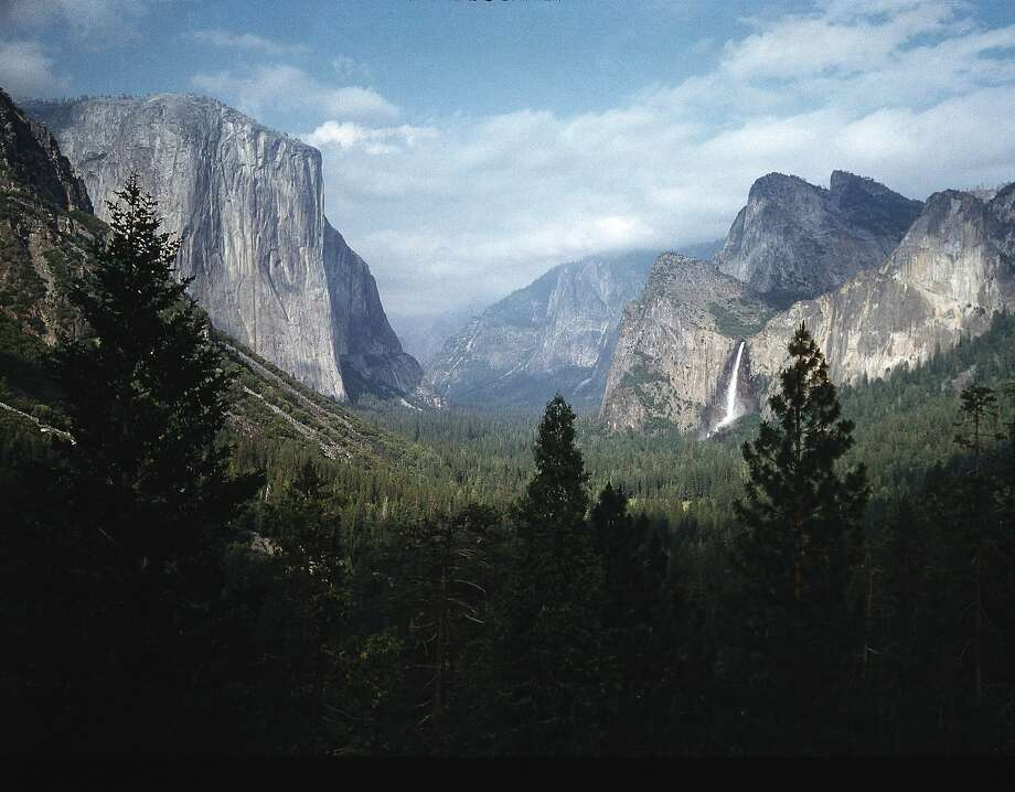 El Capitan and Bridal Veil Falls visible in wide angle view of Yosemite National Park Photo: Ralph Crane, Getty Images