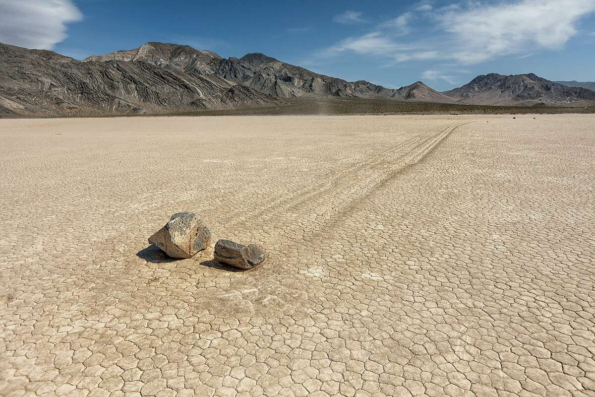 The Racetrack - Rocks seem to move themselves across the dry plain at Death Valley National Park. You're going to need a 4WD vehicle and a lot patience to get here - about a 3.5-hour drive one way from Furnace Creek at the center of the park. But for rocks that