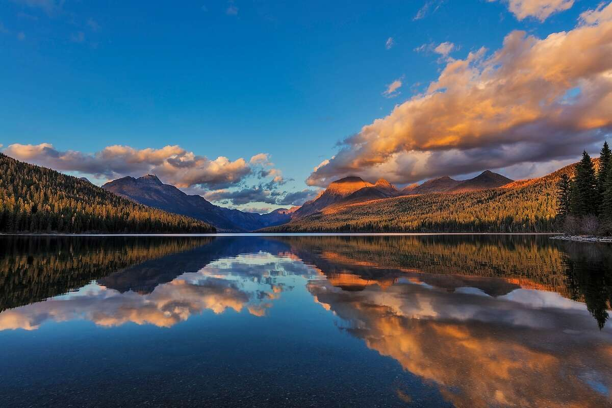 Bowman Lake - This gorgeous lake, in the northwestern portion of Glacier National Park in Montana, is not commonly visited because of its remote location. The lake is accessed via a six-mile unpaved road from the small town of Polebridge. Says one Trip Advisor reviewer: