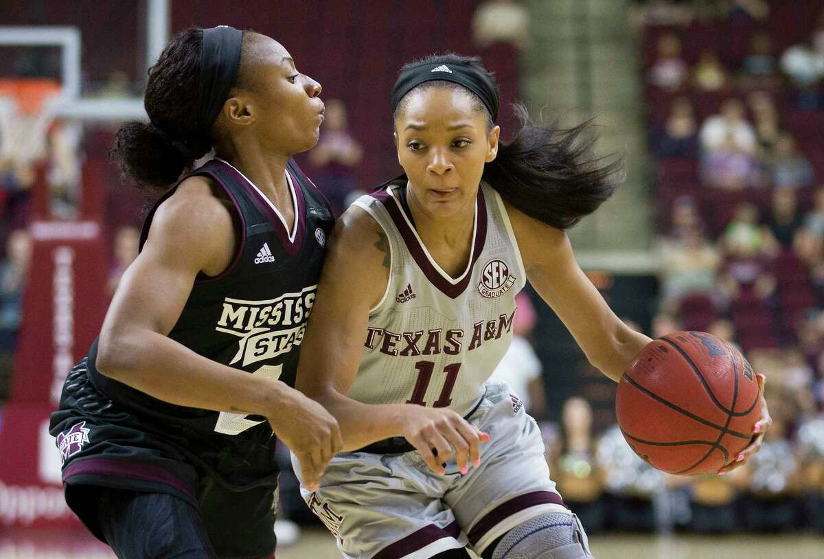 Texas A&M senior point guard Curtyce Knox, right, leads the nation in assists per game at 9.5.