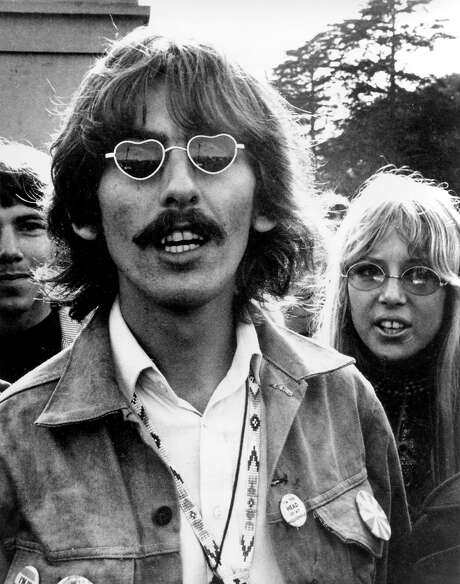 George Harrison and wife Patti Boyd visit San Francisco in 1967.