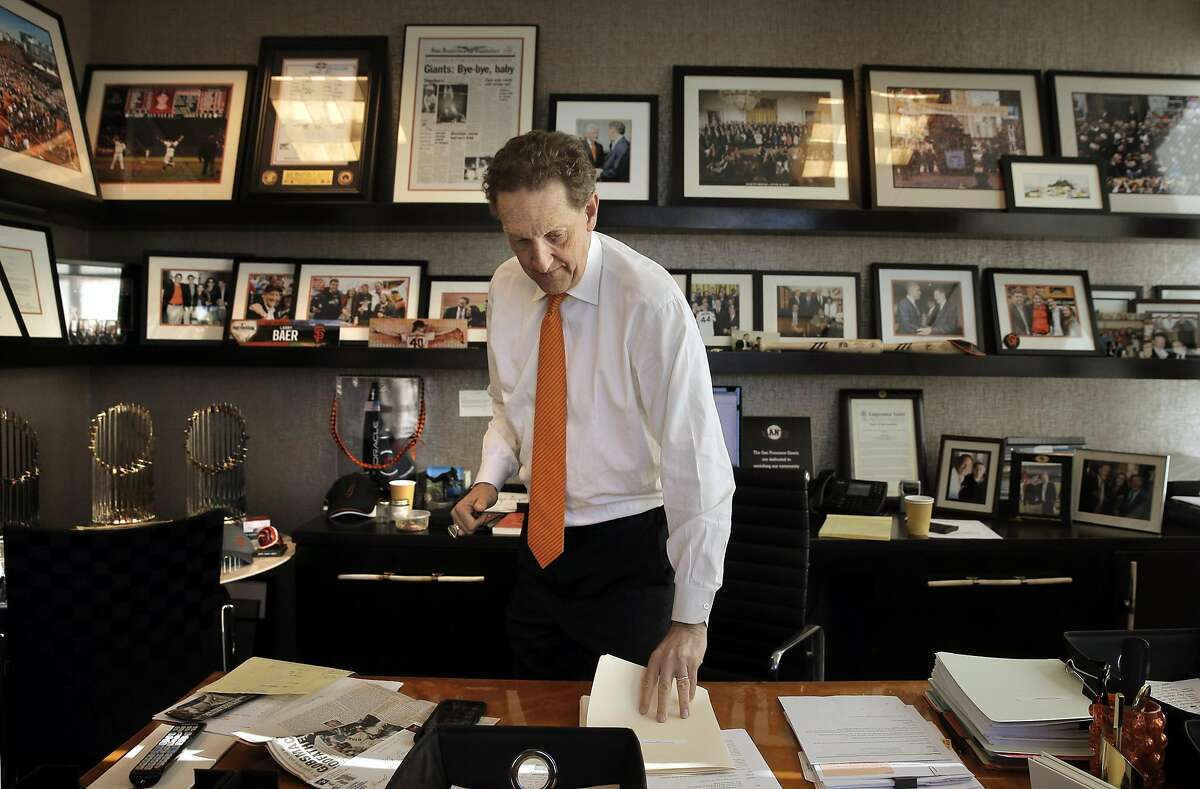 Larry Baer, CEO of the San Francisco Giants, in his office at AT&T Park in San Francisco, Calif., on Wednesday, February 22, 2017.