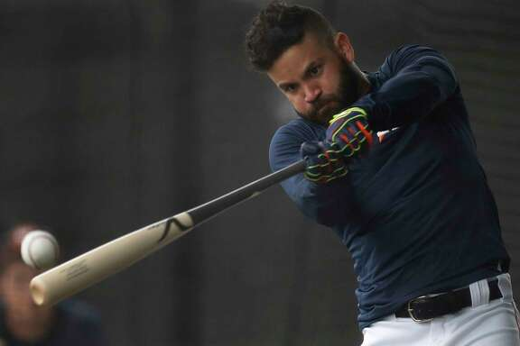 As he demonstrated Wednesday while working out at West Palm Beach, Fla., Jose Altuve has no trouble putting wood on the ball. Last year, he won his second American League batting title (.338) and had his third straight 200-hit season (216).