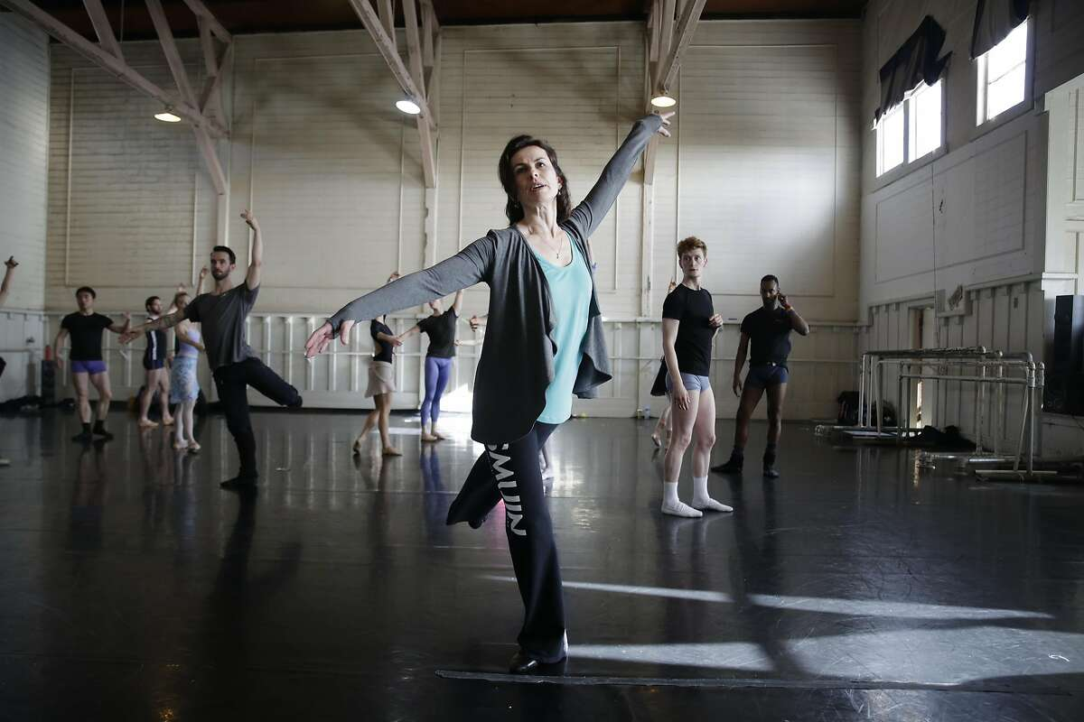 Smuin Ballet's artistic director, Celia Fushille gives a lesson to company dancers on Thursday, February 16, 2017 in San Francisco, Calif.
