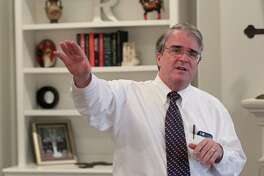U. S. Rep. John Culberson speaks with constituents during a campaign event at a private residence, Sunday, Feb. 21, 2016, in Houston. Culberson spoke at length about a controversial plan to build low-income housing near the neighborhood.  ( Jon Shapley / Houston Chronicle )