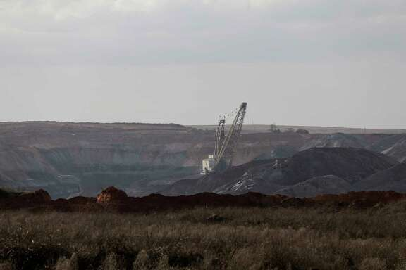 A coal mine, in the process of being reclamated, just outside of Jewett, Texas. The mine was designated to be closed during the Obama administration, but coal is still a big source of energy in Texas. ( Elizabeth Conley / Houston Chronicle )