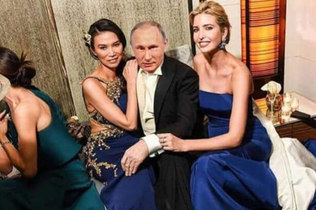 An old photo of Ivanka Trump has been making the rounds because it shows the First Daughter posing with Vladimir Putin and Wendi Murdoch.