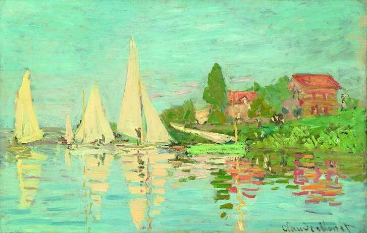 """Claude Monet, """"Regatta at Argenteuil"""" (1872)"""
