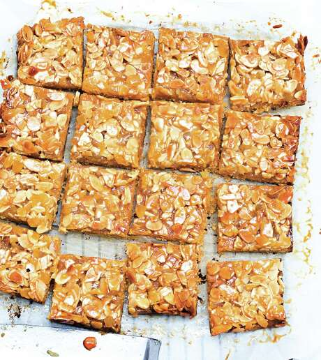Ginger Almond Bars from author and teacher Patricia Wells demonstrate proper baking technique. Photo: David Japy /Courtesy HarperCollins Publishers