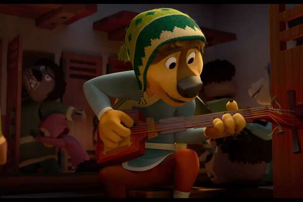 "Bodi prefers music to guarding sheep in ""Rock Dog."""