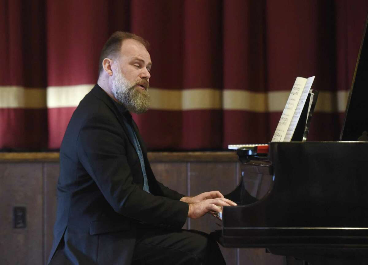 Pianist Rimantas Vingras performs during Sunday Afternoons Live at First Congregational Church of Old Greenwich on Sunday, Feb. 19, 2017. In the first Sunday Afternoons Live performance of the season, the Lithuanian duo of Vingras and violinist Edita Orlinyte captivated listeners with music from Bach, Chausson, Ciurlionis and Markov. The concerts continue on Feb. 26 with a performance from jazz saxophonists Peter and Will Anderson.