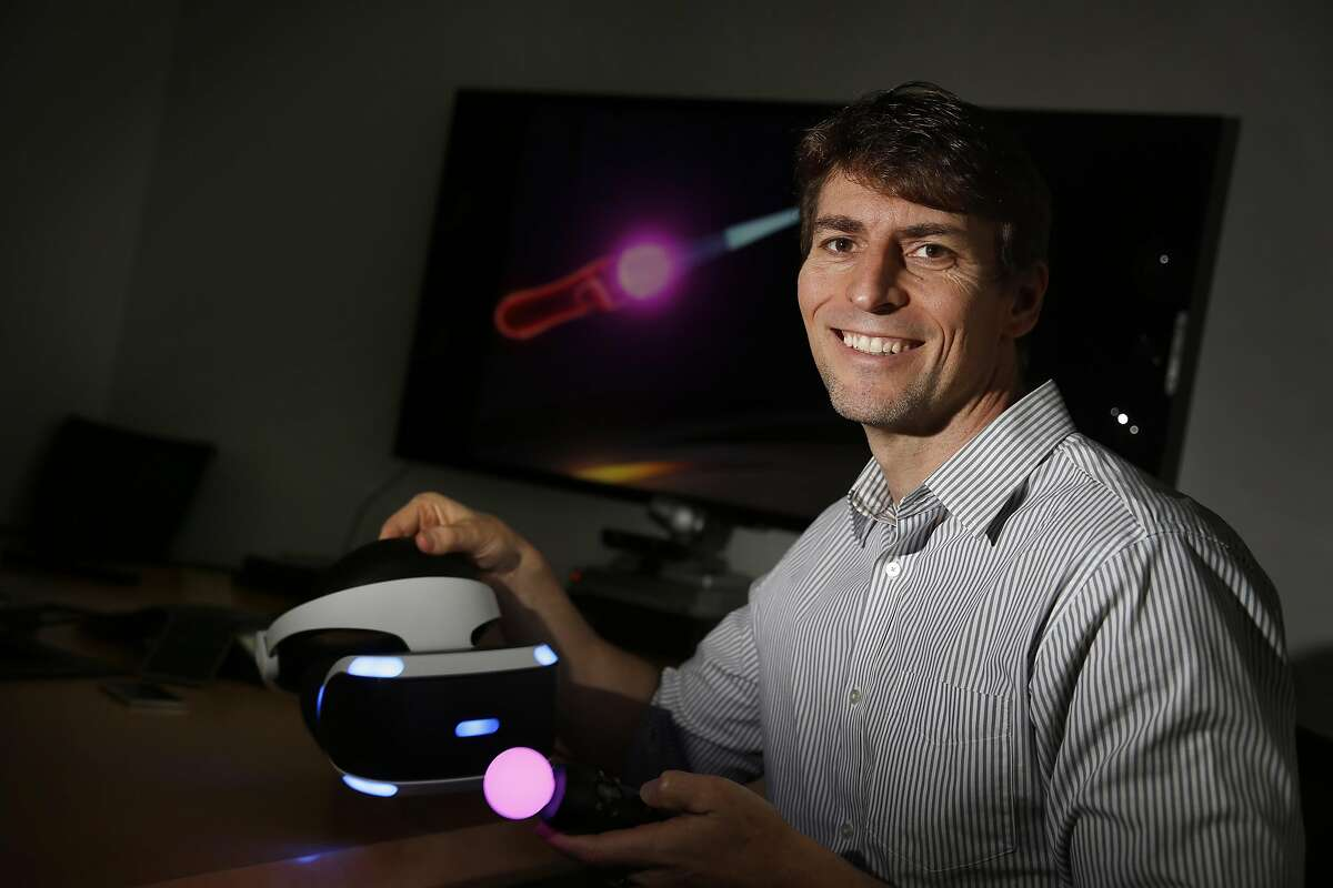 Richard Marks, Research Fellow at PlayStation, poses for a portrait on Wednesday, February 22, 2017 in San Mateo, Calif.