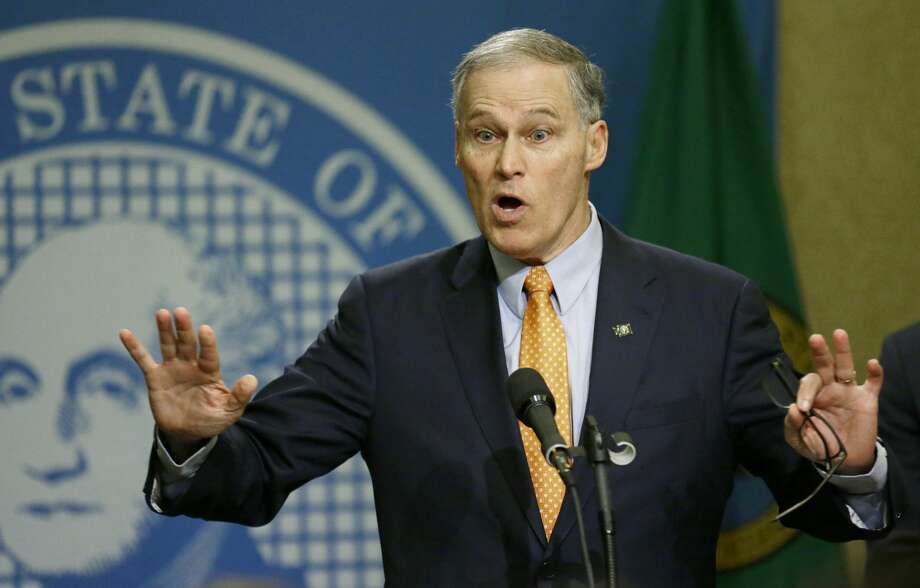 "Gov. Jay Inslee on Republicans health care plan: ""It is a disaster for Washington."" (AP Photo/Ted S. Warren) Photo: Ted S. Warren/AP"