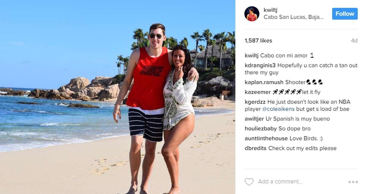 Forward Kyle Wiltjer (30) visited Cabo San Lucas, Mexico. @kwiltj