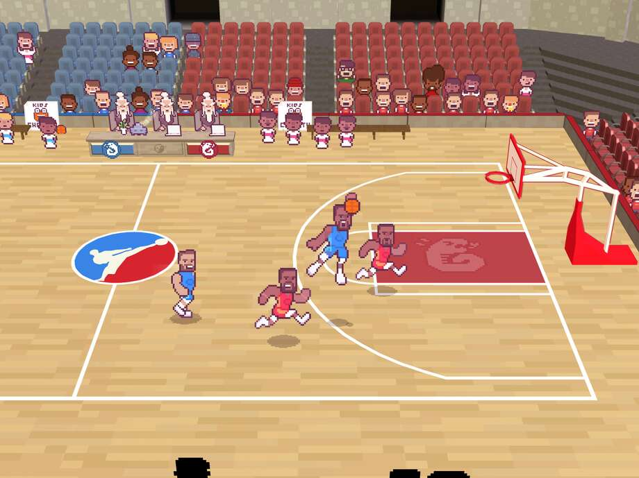 "A screenshot from the ""Draymond Green's Shut Up and Slam Jam Karate Basketball"" video game. Photo: Seadads/Screenshot"