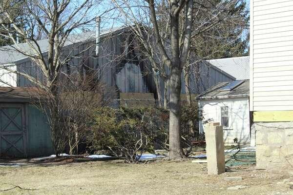 The DPW garage backs up to neighbor's yards on Van Rensselaer Street.