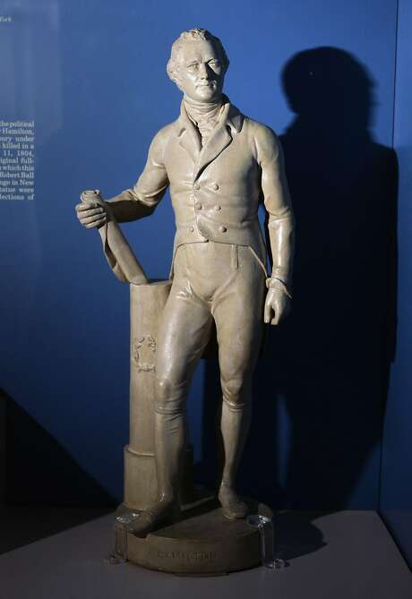 A small copy of Robert Ball Hughes' full-size statue of Alexander Hamilton id displayed at the Visitor's Center at Schuyler Mansion in Albany, N.Y. The original statue was destroyed in a fire in 1836. Photo: John Carl D'Annibale, Albany Times Union