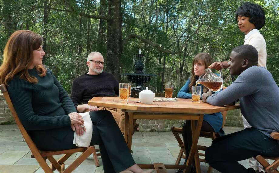 "This image released by Universal Pictures shows, from left, Catherine Keener, Bradley Whitford,  Allison Williams, Betty Gabriel and Daniel Kaluuya in a scene from, ""Get Out."" (Justin Lubin/Universal Pictures via AP) ORG XMIT: NYET855 Photo: Justin Lubin / © Universal Pictures"