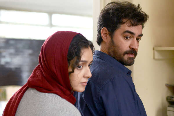 """Taraneh Alidoosti and Shahab Hosseini in Asghar Farhadi's """"The Salesman."""" The Iranian actors play husband-and-wife members of a theater company engaged in a production of Arthur Miller?s ?Death of a Salesman."""" (Amazon Studios,Cohen Media Group via The New York Times"""