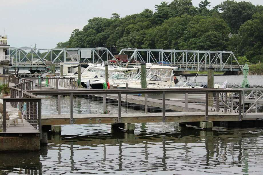 A view of the Saugatuck Swing Bridge in Westport, Conn. in August. Photo: Chris Marquette / Hearst Connecticut Media / Westport News