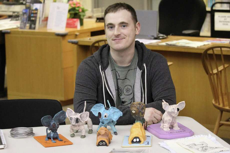 Stop-motion animator and filmmaker Jhonny Parks conducted a four-day stop-motion filmmaking class at the Westport Library. Photo: Chris Marquette / Hearst Connecticut Media / Westport News