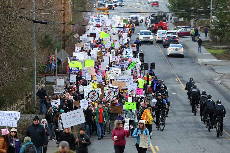 Even a huge turnout of protesters last February has not persuaded Rep. Dave Reichert, R-Wash., to change his mind and hold a town meeting. Reichert is the lone Republican member of Congress from the Puget Sound region.  Photo: GENNA MARTIN, SEATTLEPI.COM / SEATTLEPI.COM