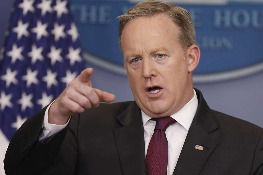WASHINGTON, DC - FEBRUARY 23: White House Press Secretary Sean Spicer holds the daily briefing February 23, 2017 in at the White House in Washington, DC. Spicer addressed U.S. President Donald Trump's recent action on transgender bathroom in public schools. (Photo by Aaron P. Bernstein/Getty Images) Photo: Aaron P. Bernstein, Getty Images