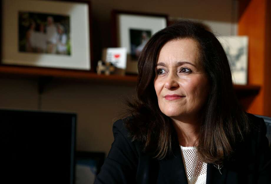 Geisha Williams is seen in her office at PG&E corporate headquarters in San Francisco, Calif. on Thursday, Feb. 23, 2017. Williams takes over as the utility's new CEO on March 1. Photo: Paul Chinn, The Chronicle