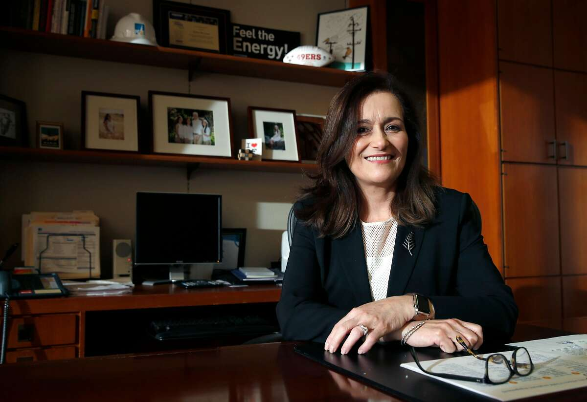 Geisha Williams is seen in her office at PG&E corporate headquarters in San Francisco, Calif. on Thursday, Feb. 23, 2017. Williams takes over as the utility's new CEO on March 1.