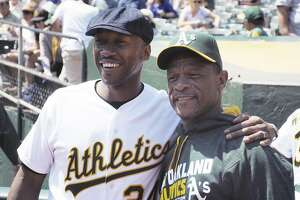 """""""Moonlight"""" actor and Oakland native Mahershala Ali visited the Coliseum in 2016."""