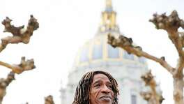 Ken Jones stands for a portrait outside City Hall in San Francisco, California, on Wednesday, Feb. 15, 2017.