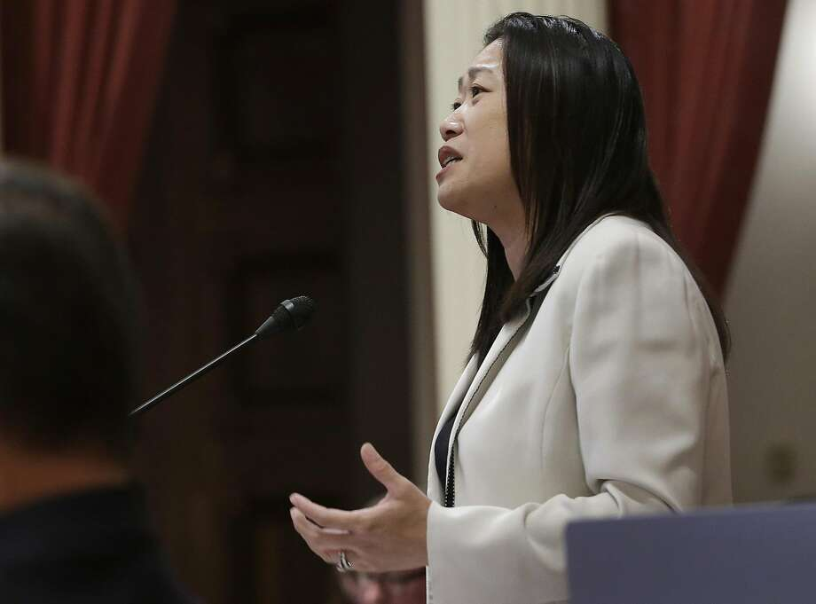 State Sen. Janet Nguyen received national attention when her speech criticizing the late state Sen. Tom Hayden's stance on the Vietnam War was shut down by her Democratic colleagues. Photo: Rich Pedroncelli, Associated Press