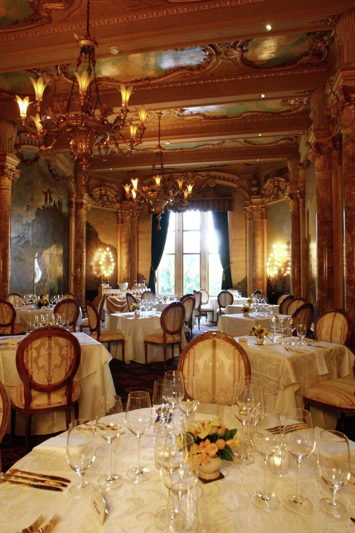 A section of the formal dining room in Mar-a-Lago.