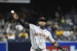 SAN DIEGO, CALIFORNIA - SEPTEMBER 23:  Eduardo Nunez #10 of the San Francisco Giants plays during a baseball game against the San Diego Padres at PETCO Park on September 23, 2016 in San Diego, California.  (Photo by Denis Poroy/Getty Images)