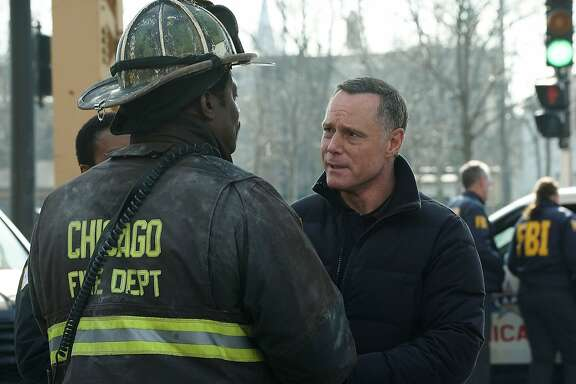"CHICAGO FIRE -- ""Deathtrap"" Episode 516 -- Pictured: Jason Beghe as Hank Voight -- (Photo by: Elizabeth Morris/NBC)"