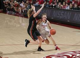 Stanford sophomore Alanna Smith, right, has reached double figures in four of her last five games, during which time she's shot better than 51 percent.