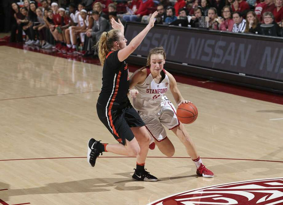 Stanford sophomore Alanna Smith, right, has reached double figures in four of her last five games, during which time she's shot better than 51 percent. Photo: Bob Drebin / Bob Drebin / Stanford Athletics / Bob Drebin / Stanford Athletics
