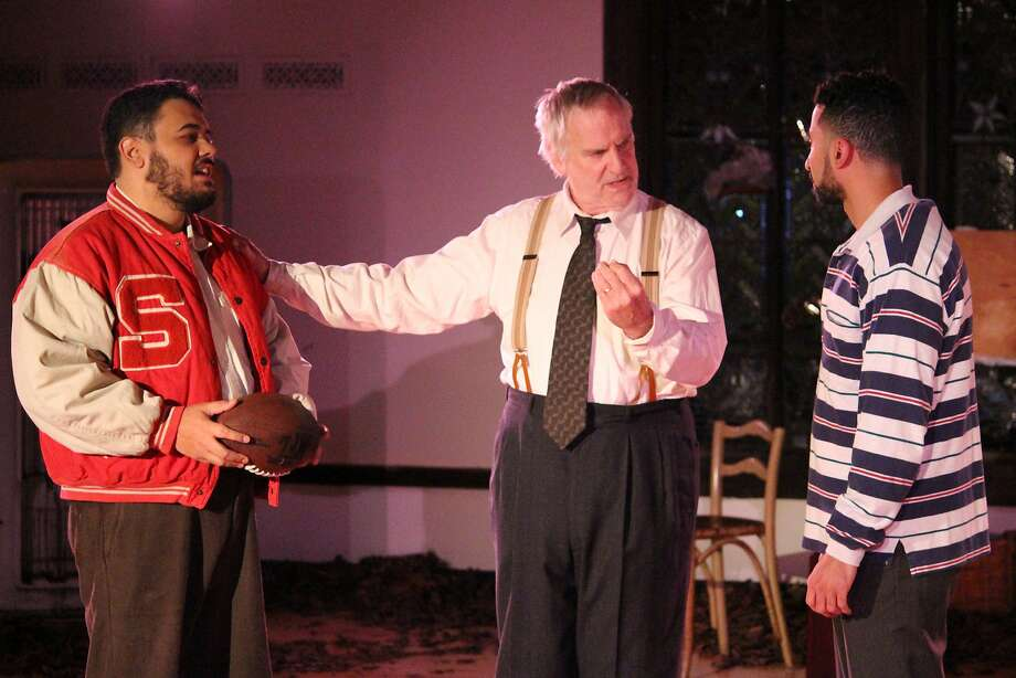 Nathaniel Andalis, Julian López- Morillas and Mohamad Shehata. Photo: Colin Blattel, Ubuntu Theater Project