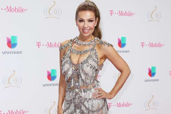 MIAMI, FL - FEBRUARY 23:  Thalía attends Univision's 29th Edition of Premio Lo Nuestro A La Musica Latina at the American Airlines Arena on February 23, 2017 in Miami, Florida.  (Photo by John Parra/Getty Images For Univision Communications)