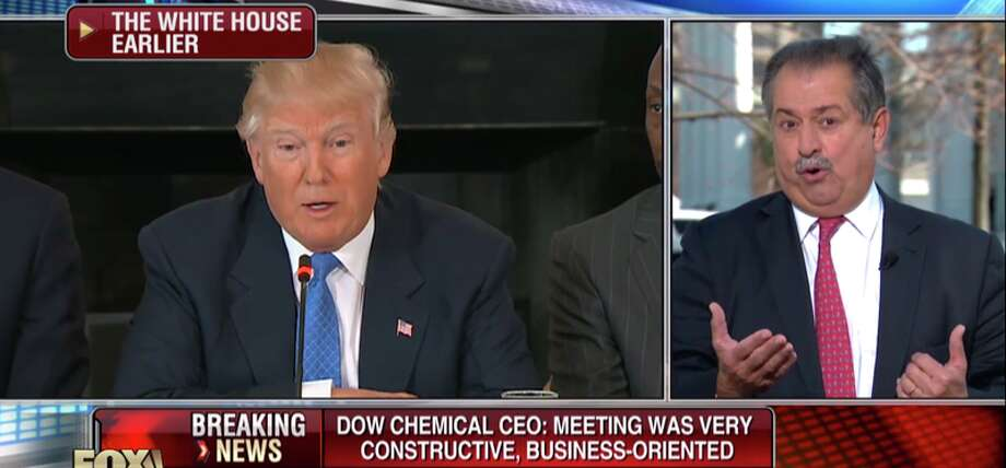 Fox News anchor Neil Cavuto on Fox Business Network's 'Coast to Coast' program interviewed Dow Chairman and CEO Andrew Liveris shortly after his meeting with President Donald Trump and two dozen other CEOs as part of a manufacturing council with a goal to 'bring millions of jobs back to the U.S.'