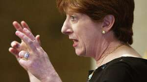 Mayor Kathy Sheehan outlines an advocacy campaign for Capital City Funding during a City Hall news conference Thursday, Feb. 23, 2017 in Albany, NY.  (John Carl D'Annibale / Times Union)