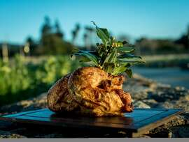 The roasted Chicken at CIA at Copia in Napa, Calif. is seen on February 23rd, 2017.