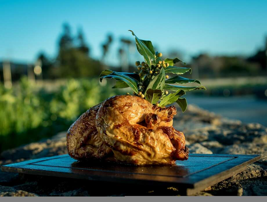 Roasted chicken at the Restaurant at CIA Copia in Napa. Photo: John Storey, Special To The Chronicle