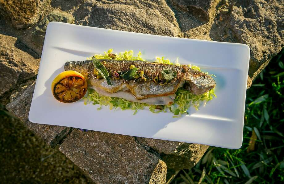 Whole roasted trout at the Restaurant at CIA Copia in Napa. Photo: John Storey, Special To The Chronicle