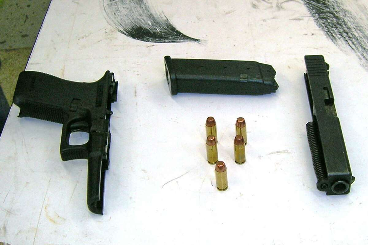 Police say this gun killed Maxine Gooden, 43, while she was selling Jamaican food at Lione Park on the night of Nov. 2. 2015. The gun was found over the weekend, taken apart inside the dashboard of the get-away vehicle used by alleged shooter Jhonel Telemin-Valero, 21, of Stamford, Conn.