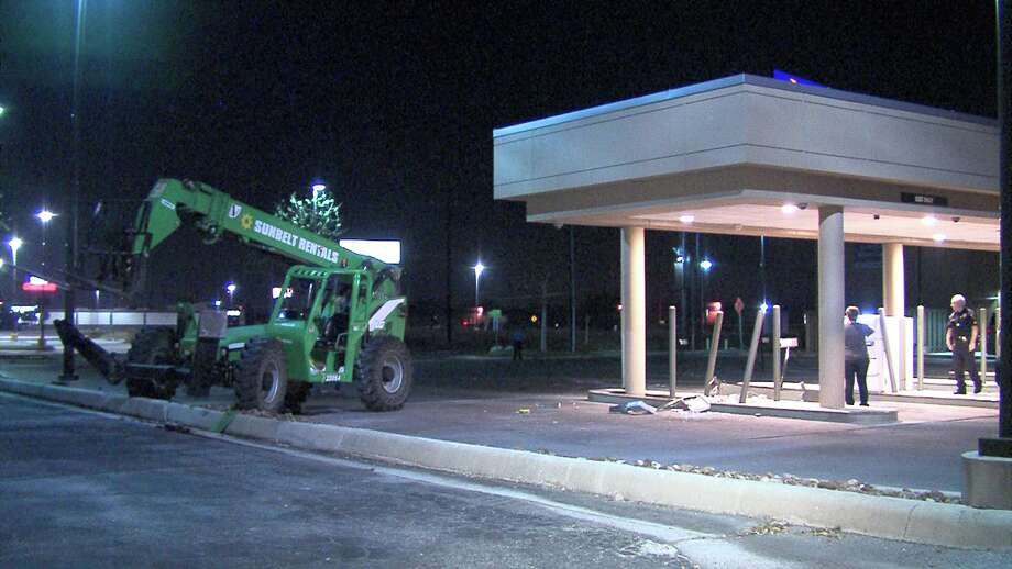 The robbery was discovered around 4 a.m., Feb. 24, 2017, near Interstate 35 and Walzem Road, when an officer noticed what he thought was a scrap of metal, but turned out to be an ATM. Photo: Ken Branca